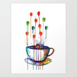 Coffee Splash Art Print