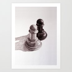 Chess Pawns Art Print