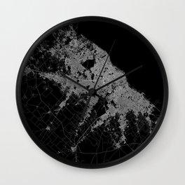 Warsaw map poland Wall Clock