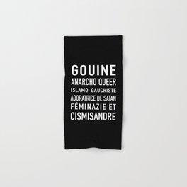 Gouine anarcho queer islamo-gauchiste féminazie et cismisandre Hand & Bath Towel