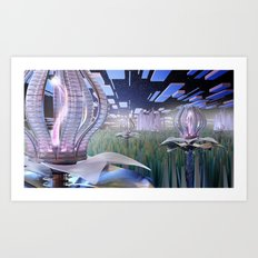 Mechanical Blossom Art Print