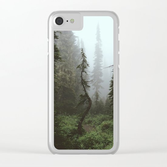 Rainier Forest Clear iPhone Case