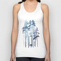 wolf Tank Tops featuring Winter Wolf by Robert Farkas
