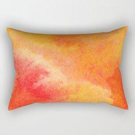 Orange watercolor paint vector background Rectangular Pillow