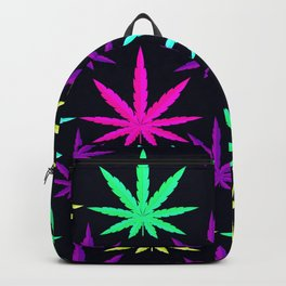 Colorful Marijuna Weed Backpack