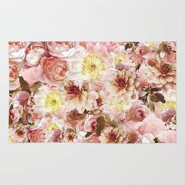pink floral print   flower photography Rug