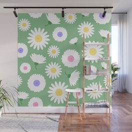 Large white & pastels spring flowers Wall Mural
