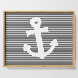 Anchor stripe Serving Tray