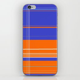 Orange and Blue Plaid iPhone Skin