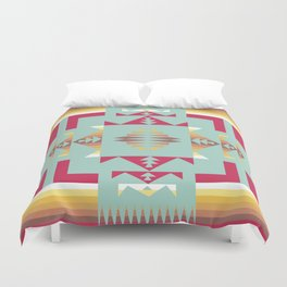 American Native Pattern No. 188 Duvet Cover