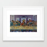 political Framed Art Prints featuring Political Party by Natalie Bessell