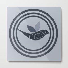 bird and circles Metal Print