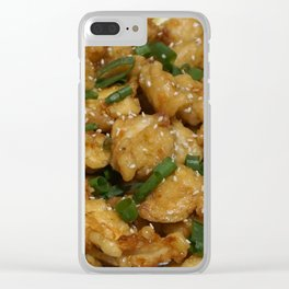 Fried Lemon Chicken (non-edible) Clear iPhone Case