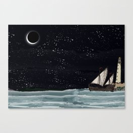 Old Havanna Starry Night Canvas Print