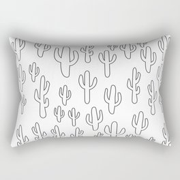 Cactus in White Palette Rectangular Pillow