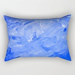 Blue Crystal City Rectangular Pillow