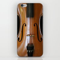violin iPhone & iPod Skins featuring Violin by Päivi Vikström