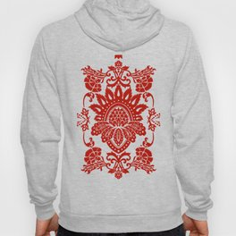Damask in red Hoody