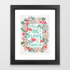 Big Brows – Juicy Palette Framed Art Print