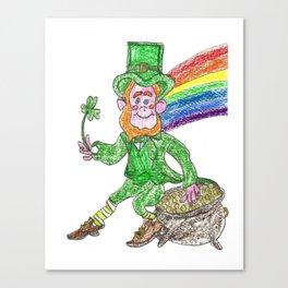 Lucky Leprechaun Canvas Print