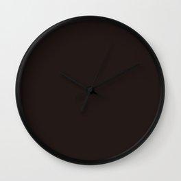 Dark brown black chocolate pure clear cocoa color Wall Clock