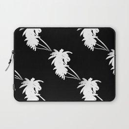 Palm Tree Pattern Black and White Laptop Sleeve