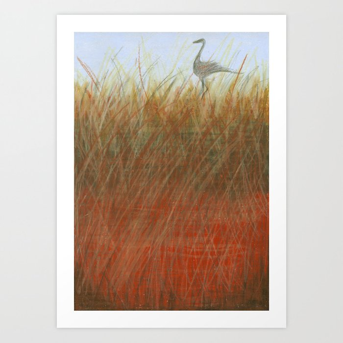 Autumn Marsh Art Print