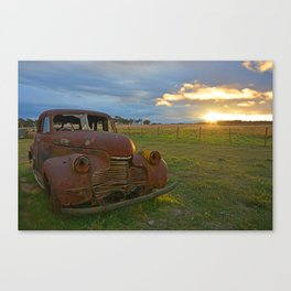 Sunset Chevy Canvas Print