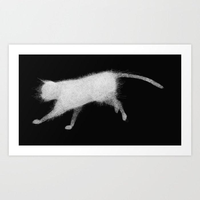 Wired cat Art Print