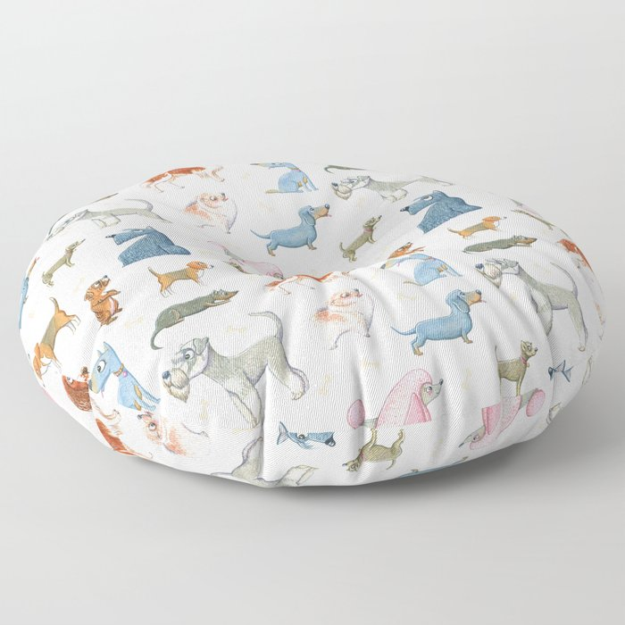 All About Dogs Floor Pillow