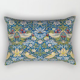 Printed Fabric Strawberry Thief by William Morris Rectangular Pillow