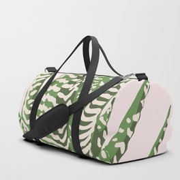 Desert Blossom - Pink and Green Succulent Duffle Bag