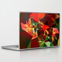 polygon Laptop & iPad Skins featuring polygon chaos by Matthias Hennig