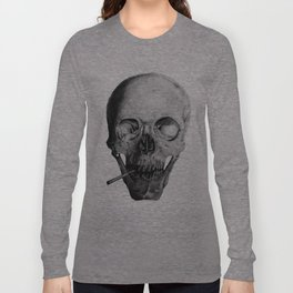Smoking Skull Long Sleeve T-shirt
