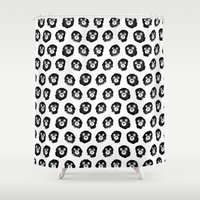 bears Shower Curtains featuring Bears by Karin Ohlsson