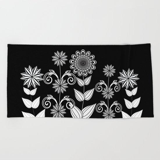 Flower garden 1 Beach Towel
