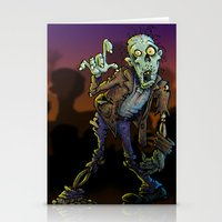 zombie Stationery Cards featuring ZOMBIE! by Billy Allison
