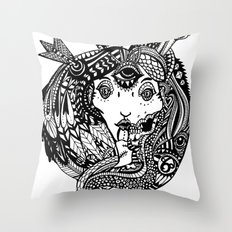Snakes and Arrows Throw Pillow