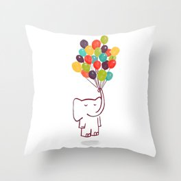 Flying Elephant Throw Pillow