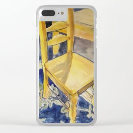 Yellow Chair In A Room Clear iPhone Case