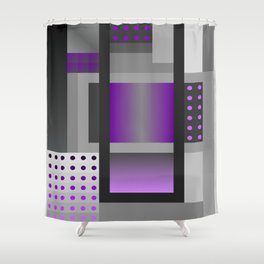 Crazy Pattern - 50 Shades of grey 6 Shower Curtain