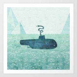 The Submarine Art Print