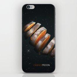 Orange Moon iPhone Skin