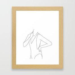 Figure line drawing illustration - Estelle Framed Art Print