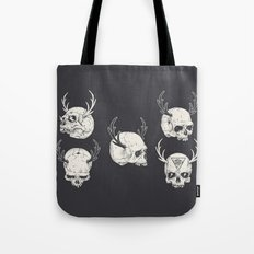 skulls & horns Tote Bag