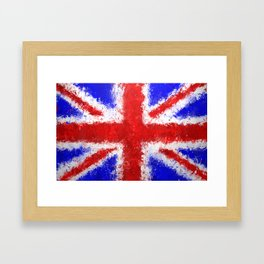 Union Jack Graffiti Framed Art Print