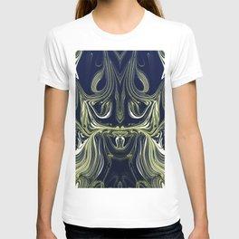 Blue Oil Gestalt Abstract IV T-shirt