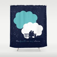 fault in our stars Shower Curtains featuring The Fault In Our Stars by laurenschroer