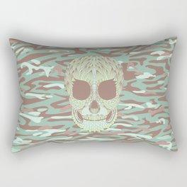 camouflage skull Rectangular Pillow