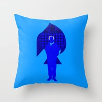 karl Throw Pillows featuring Karl Stromberg by Vector Vectoria